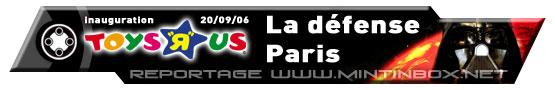 Bannière Inauguration Toys'R'Us La Défense 2006