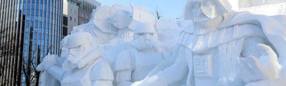 Sapporo Snow Festival : Une sculpture de neige Star Wars