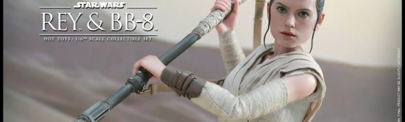 Hot Toys : Rey & BB-8 1/6th Scale Movie Masterpiece Set