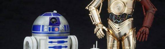 Kotobukiya : C-3PO & R2-D2 with BB-8 TFA ARTFX+ Statue