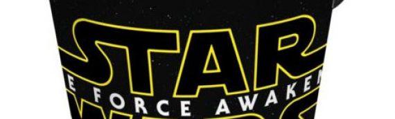 Star Wars The Force Awakens : Verre et seau à popcorns !