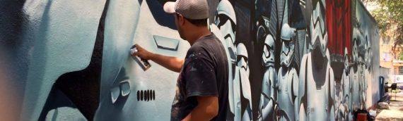 Fresque The Force Awakens à Mexico