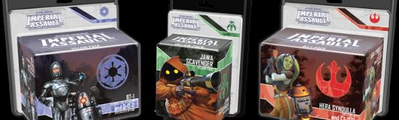 Fantasy Flight Games : 3 nouveaux packs pour Imperial Assault