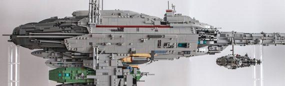 LEGO : un custom de la Frégate Nébulon B