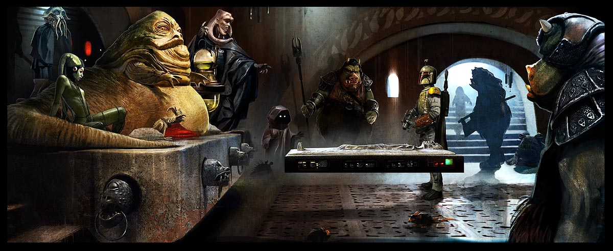 benjamin carre illustration jabba palace art of star wars