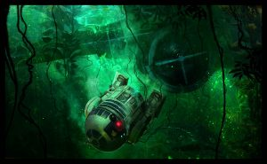 benjamin carre illustrations R2-D2 dagobah