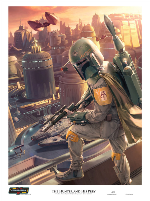 Chris Trevas Boba Fett Bounty Hunter and his prey