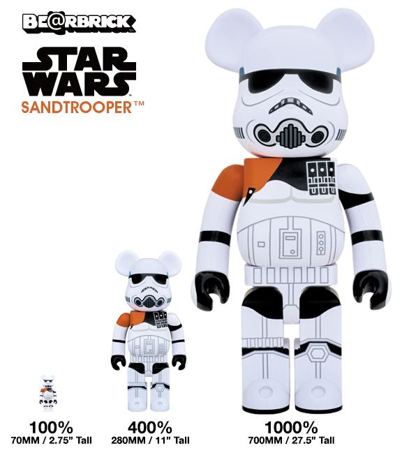 Medicom Bearbricks star wars sandtrooper