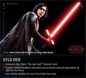 EA the last Jedi Rey Kylo Ren