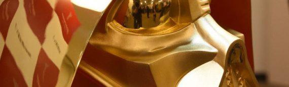 Un casque de Dark Vador en Or 24 carats aux enchères