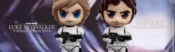 Hot Toys – Cosbaby Han Solo & Luke Skywalker as Stormtrooper
