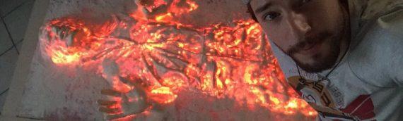 Y&M Props – Han Solo in Carbonite Life Size avec Light