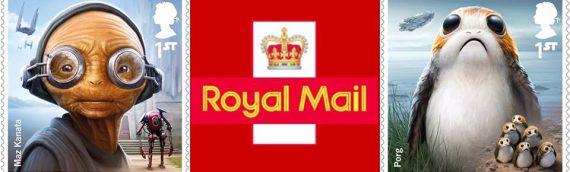 Royal Mail – Une série de timbres spéciale Droids & Aliens