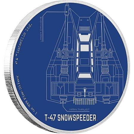 NZ Mint Star Wars Snowspeeder Coin