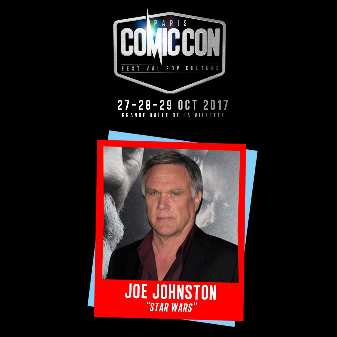 Paris Comic Con Joe Johnston