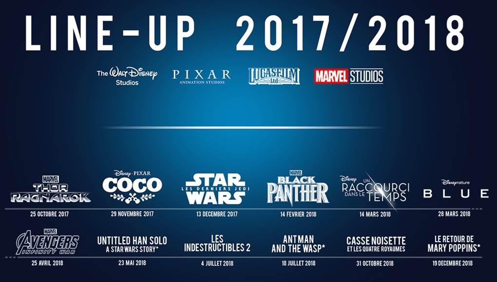 Disney Line Up han Solo movie