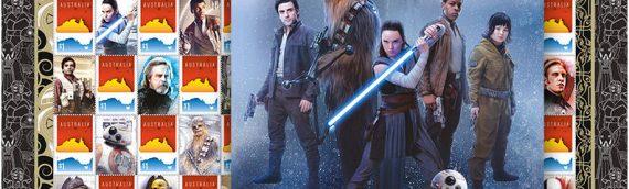Les timbres The Last Jedi en Australie