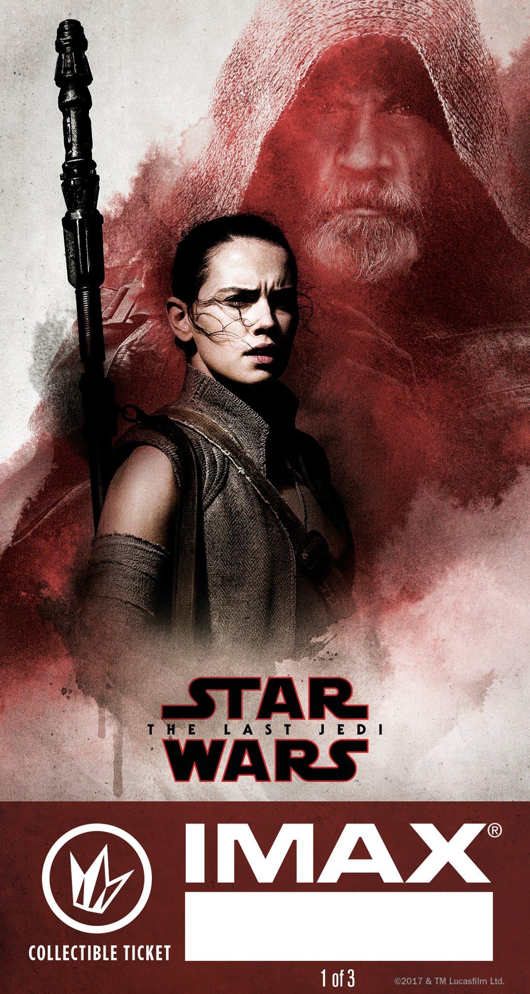 Star Wars The Last Jedi IMAX Billet ticket