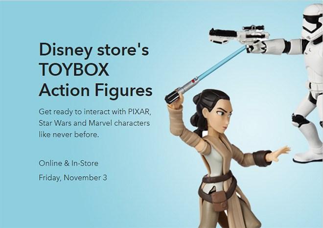 Disney Store Action Figures Toybox