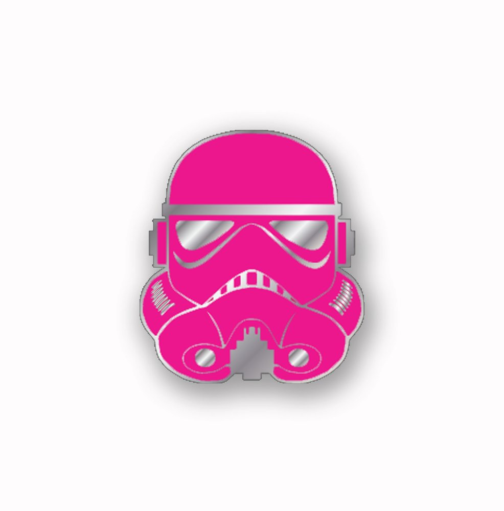 Force for cure pins pink stormtrooper