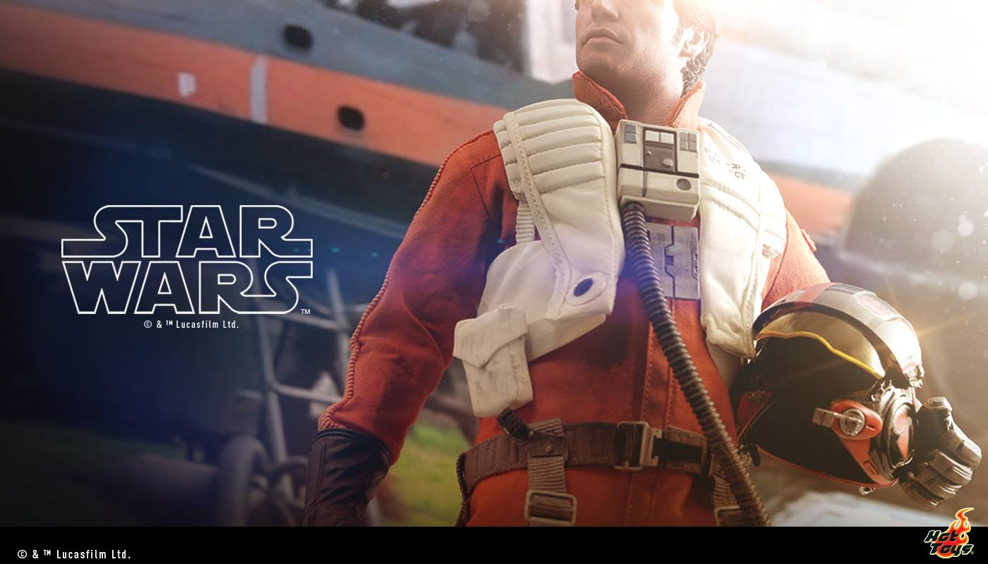 Hot Toys Poe Dameron Sixth Scale Figure
