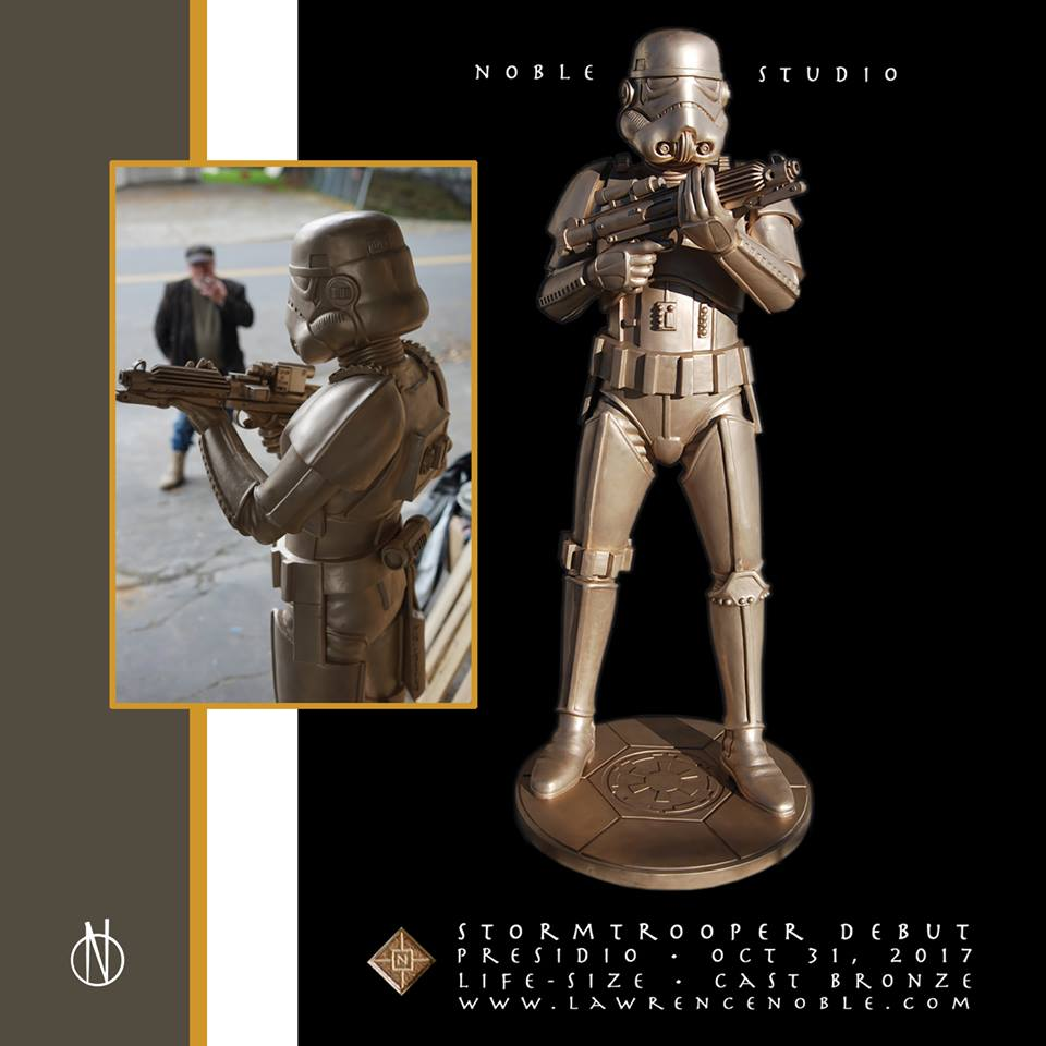 lawrence noble stormtrooper statue