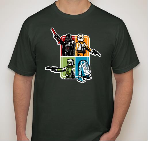 Rancho Obi-Wan tee-shirt fond
