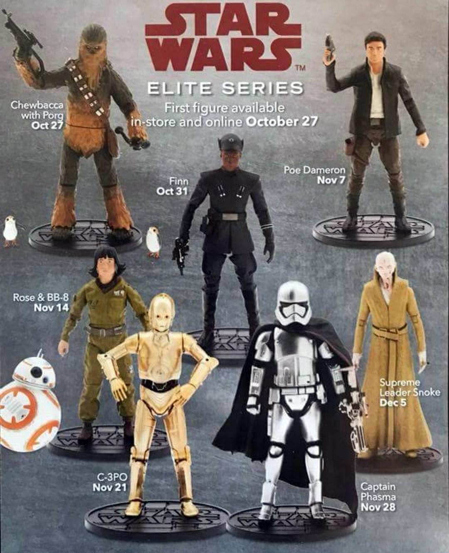 Disney The Last Jedi Elite Serie Wave 2