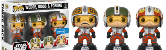 Funko PoP : 3-pack X-Wing Pilots Walmart Exclusive