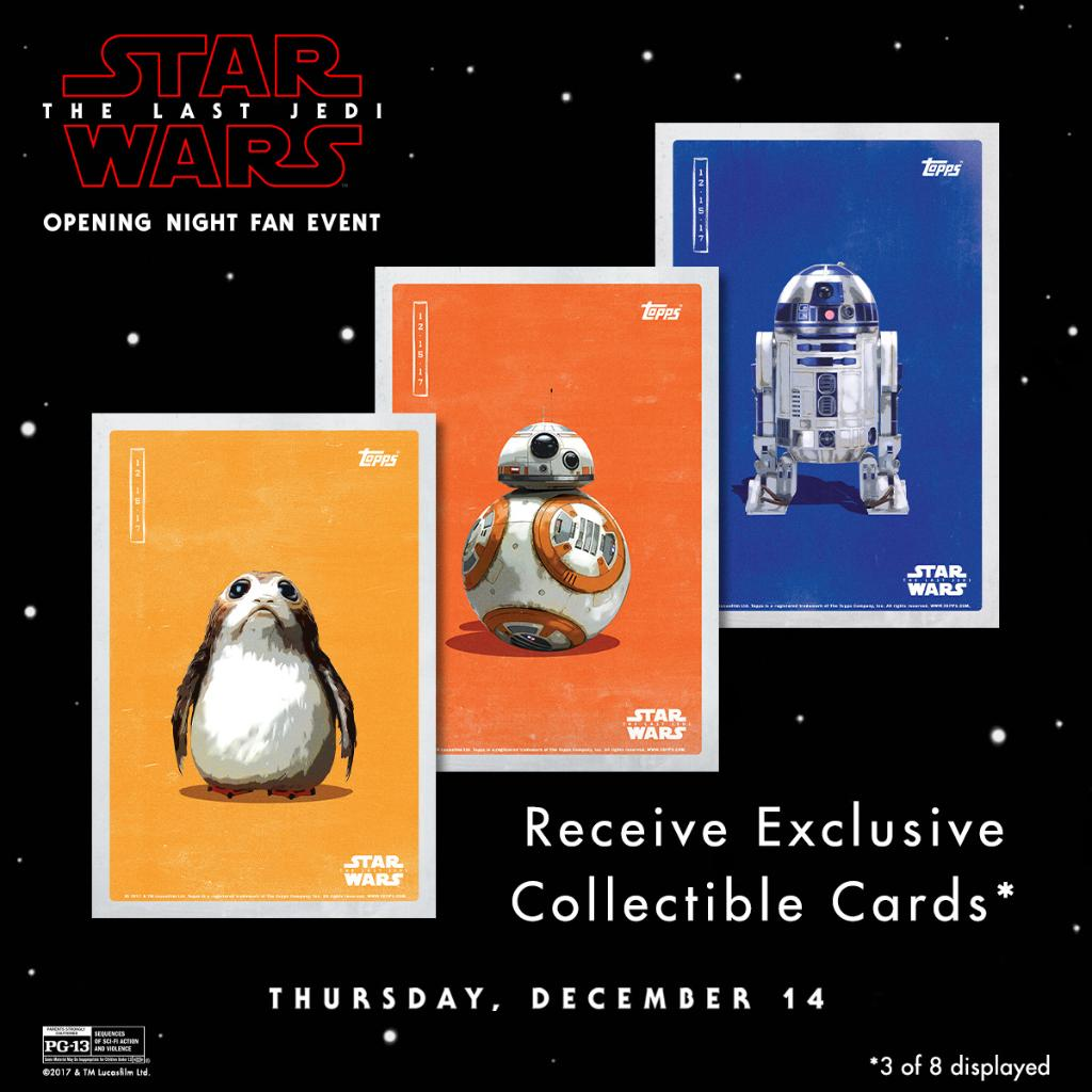 Star Wars The Last Jedi IMAX Topps