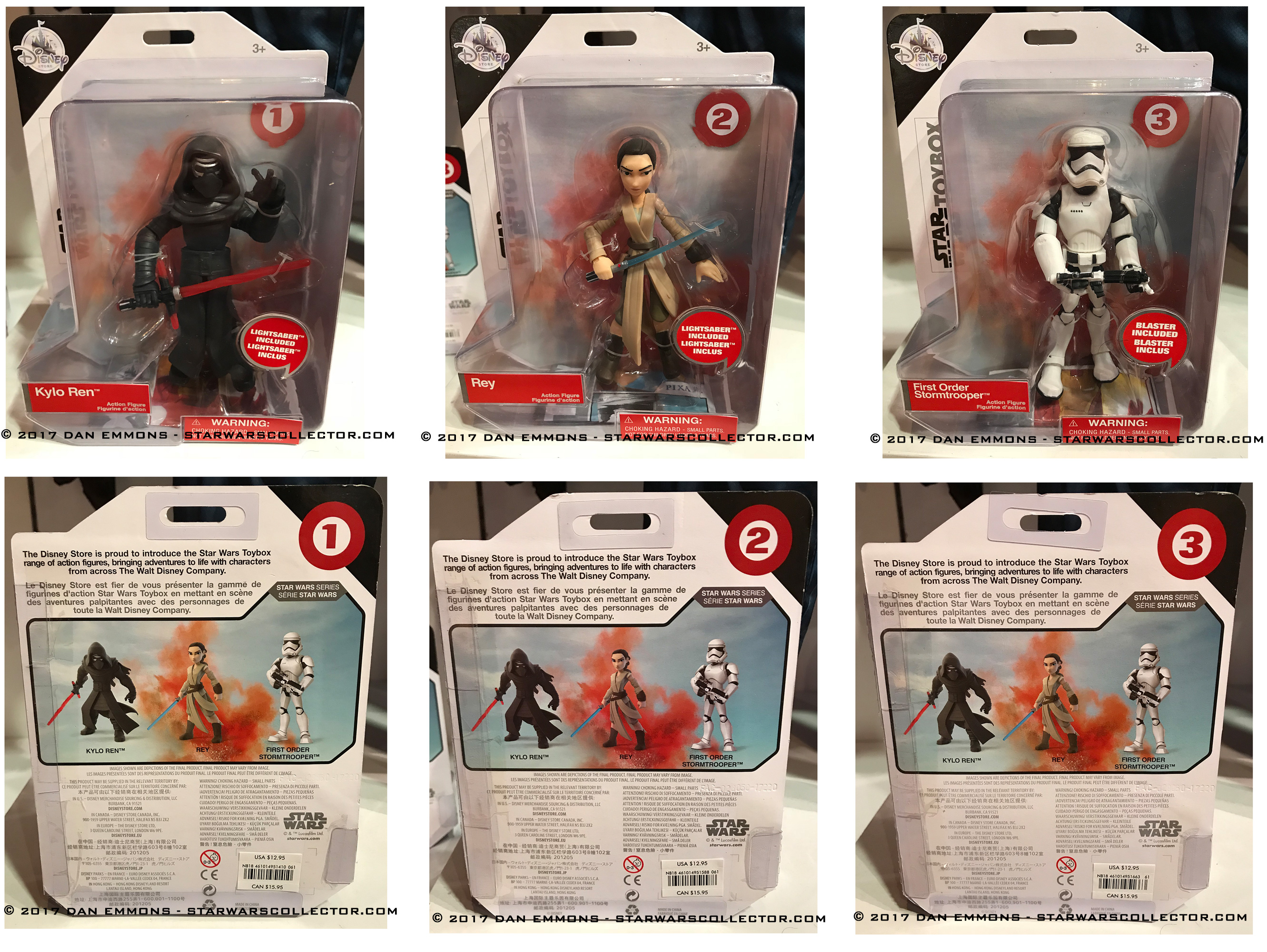 Disney Store Toybox Star Wars blisters