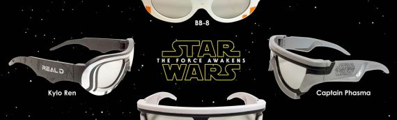 Real D : Lunettes 3D Star Wars The Force Awakens
