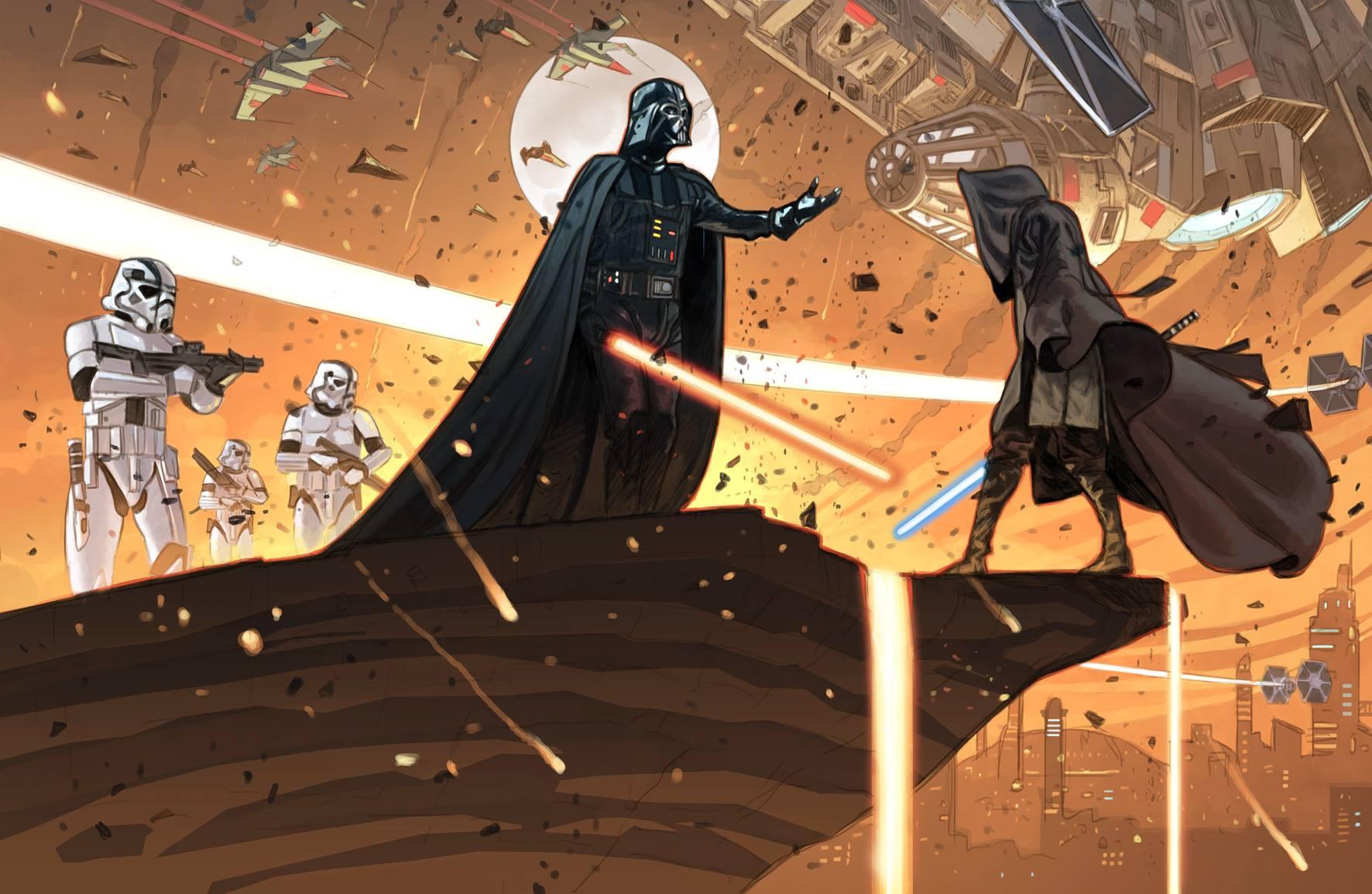 Yann Tisseron - Peinture Star Wars originale