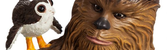 Disney Store – Statue Chewbacca, R2-D2 et Porgs Limited Edition