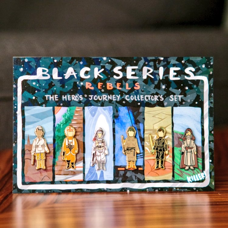 Black Serie Pins collector hero journey pins