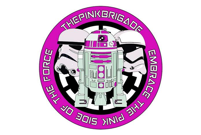 R2-KT pink brigade patch