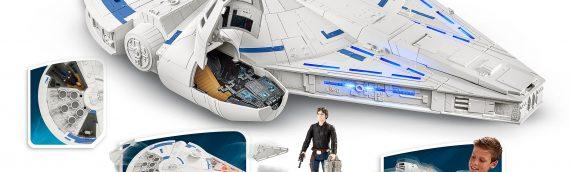 """HASBRO – Figurines 3 3/4 et Faucon Millenium pour """"SOLO – A Star Wars Story"""""""