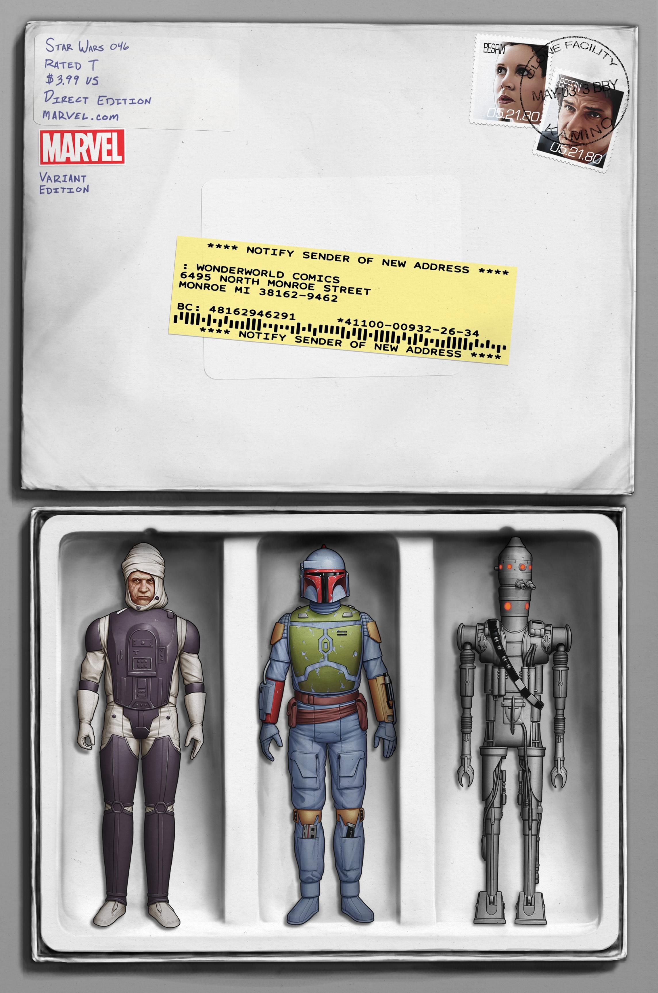 Marvel star wars comics 46 variant cover