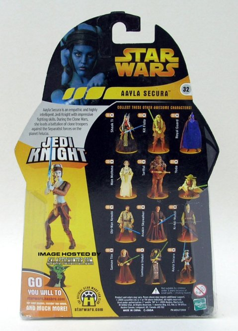 "Amy Allen - Aayla Secura - Figurine Hasbro 3""3/4 - Verso"
