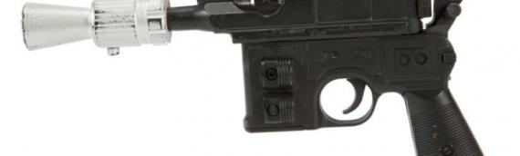 Le blaster de HAN SOLO de la Trilogie Originale vendu aux enchères