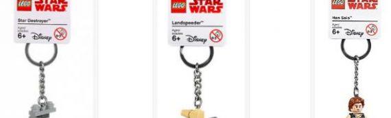LEGO – 3 nouveaux modèles de Porte Clés