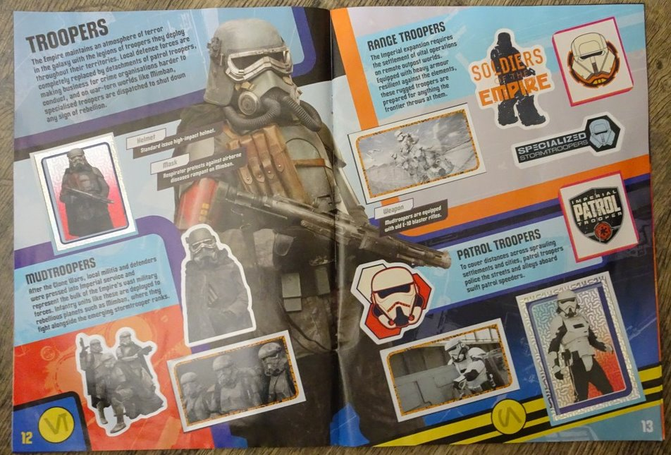 solo star wars story topps album stickers
