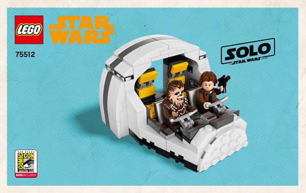Lego, le cockpit du Faucon Millenium