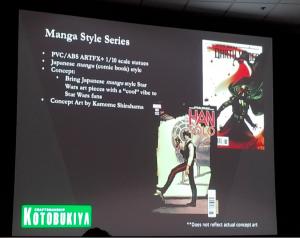 kotobukiya manga style series
