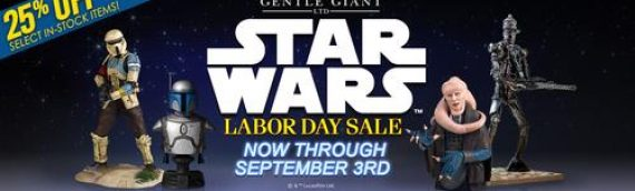 Gentle Giant: Vente speciale pour le Labor Day