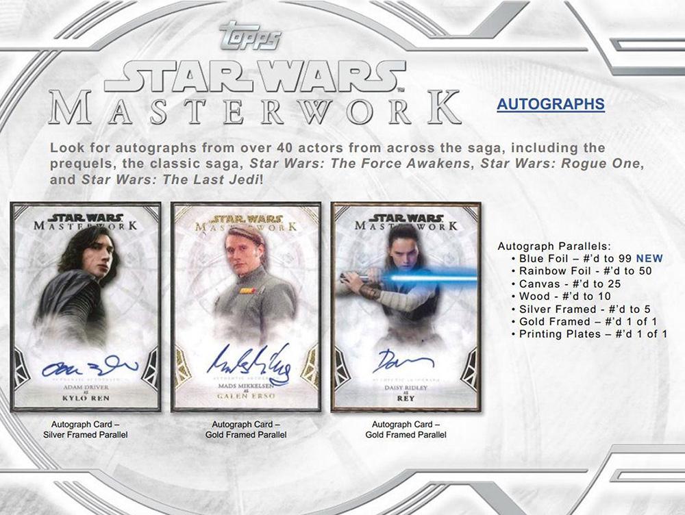 Star Wars Topps Master Works