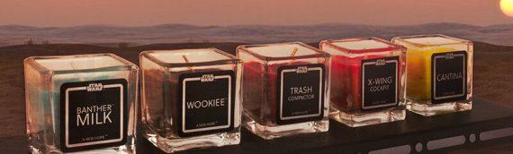 Les bougies Star Wars – Les odeurs de la galaxie