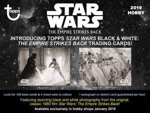 Présentation Noir et Blanc Topps Empire Contre-Attaque