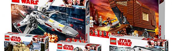 """LEGO – Un Bundle """"La vie de Luke Skywalker"""" de plusieurs sets"""