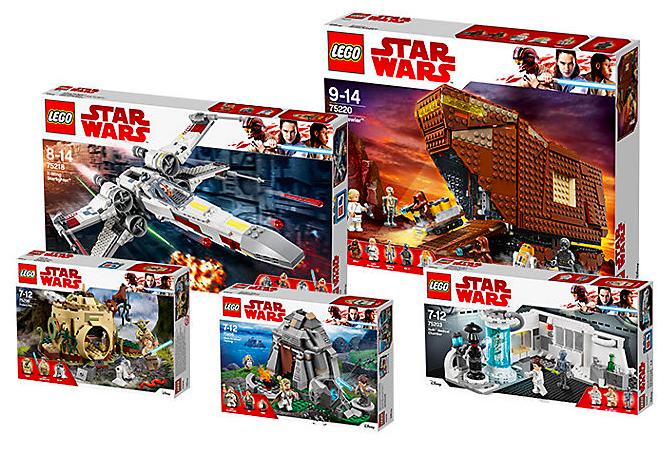 LEGO Bundle pack la vie de luke skywalker
